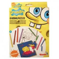 SpongeBob Coloring Puzzle