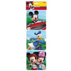 Puzzle 3 in 1 Mickey Minnie Donald